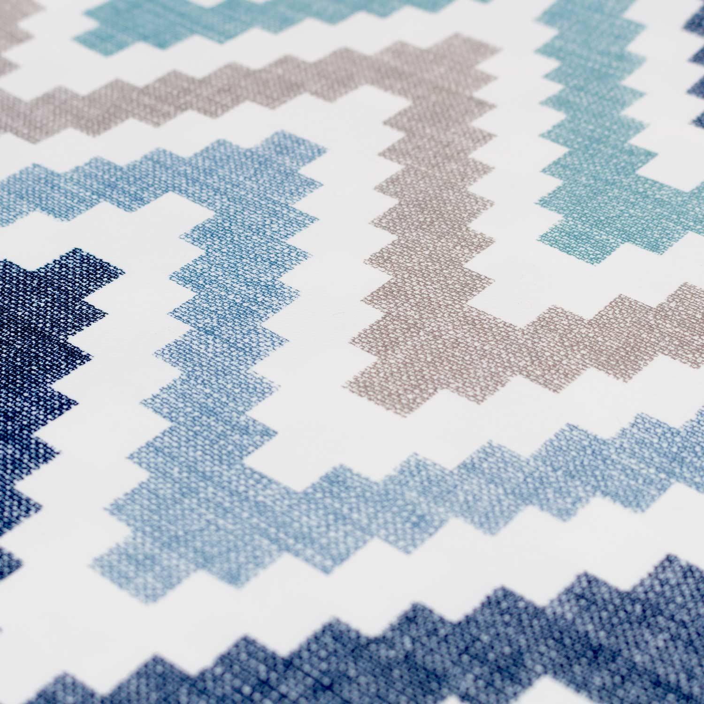 Ткань для штор зигзаг голубой цвет