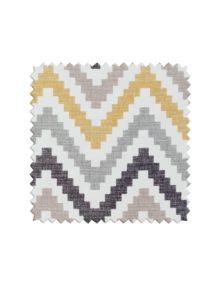 Ткань для штор с принтом зигзаг горчичного цвета