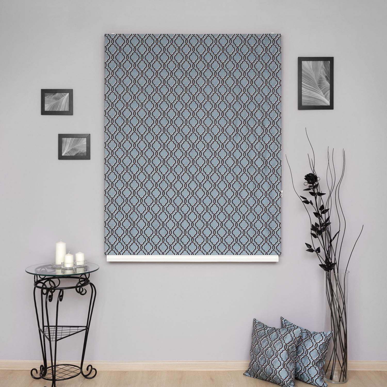 Римские шторы на пластиковые окна с модным орнаментом арабеска