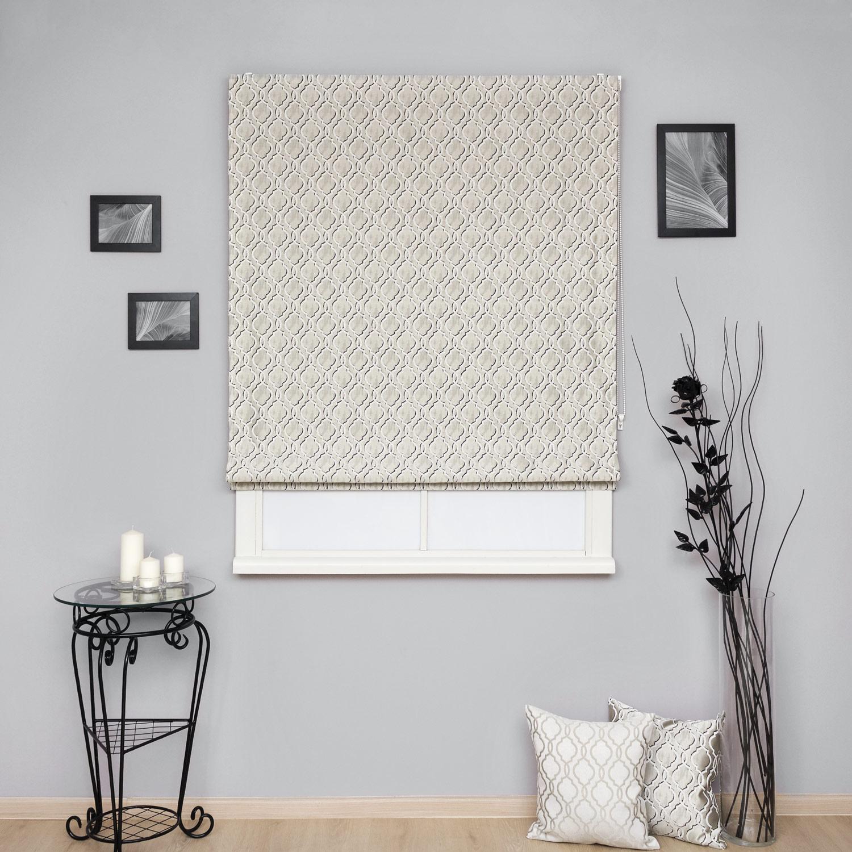 Красивые римские шторы с орнаментом арабеска