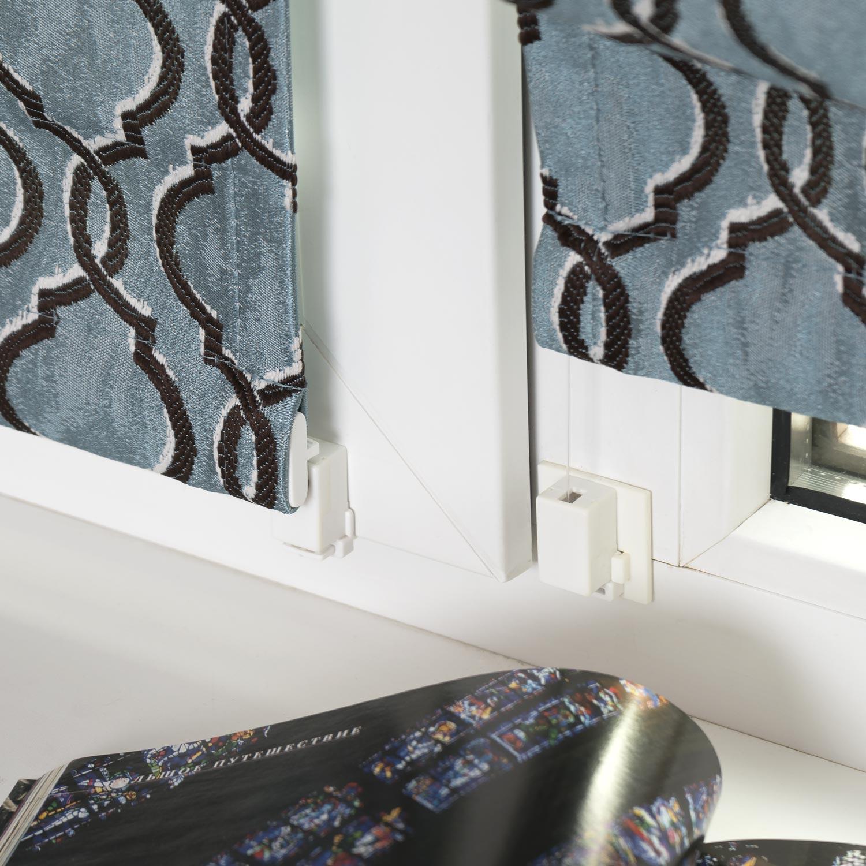 Мини римские шторы могут быть установлены без сверления на пластиковые окна