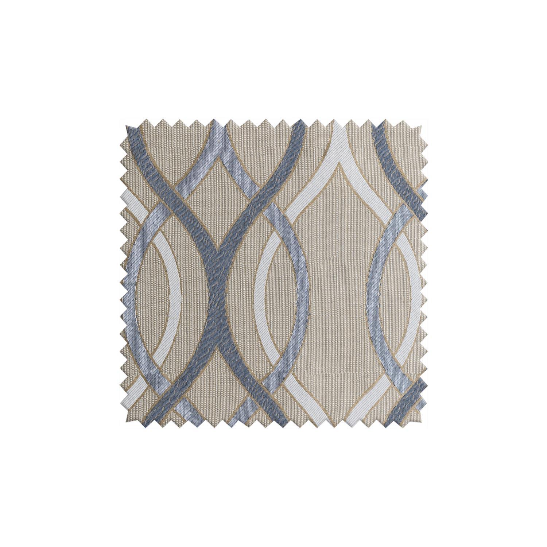 Ткань для штор бежевого цвета с орнаментом
