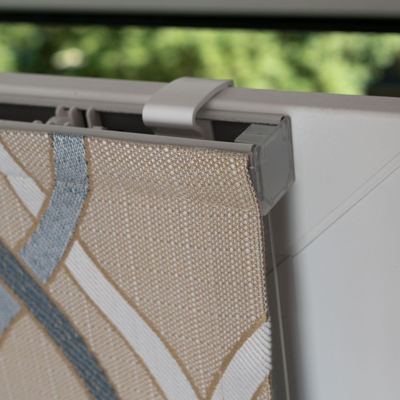 Мини римские шторы на пластиковые окна без сверления