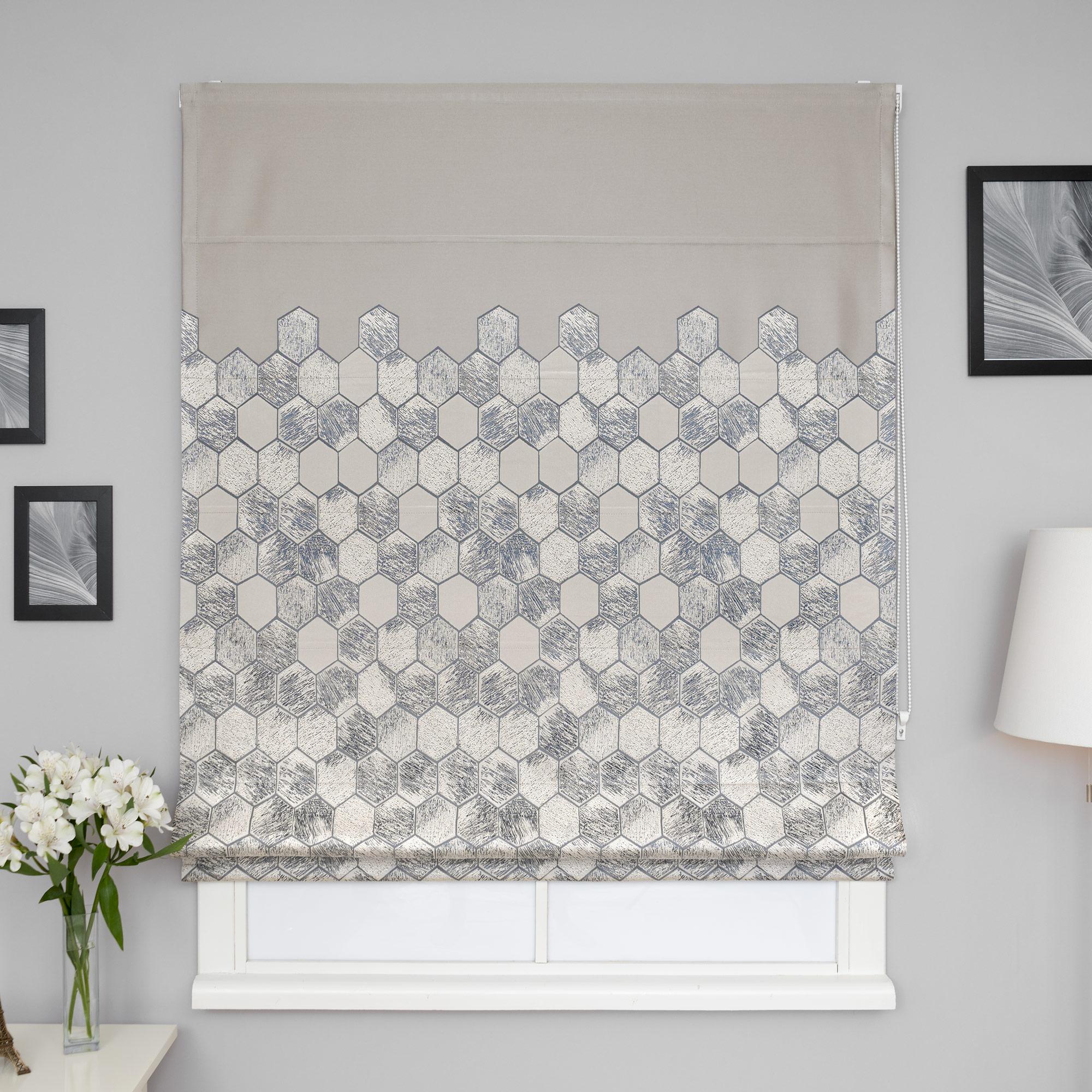 Римские шторы с орнаментом